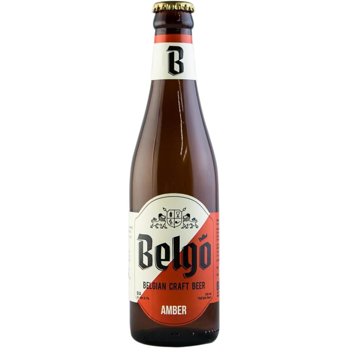 Bia Belgo Amber 330ml