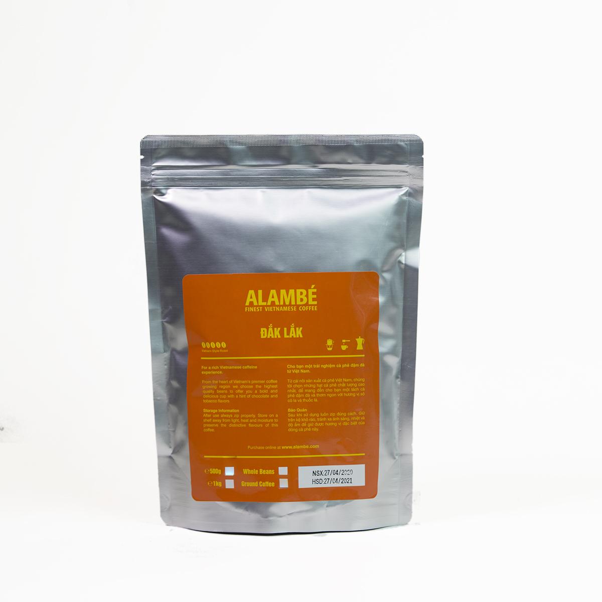 Cà phê nguyên hạt Đắk Lắk ALAMBÉ 500g