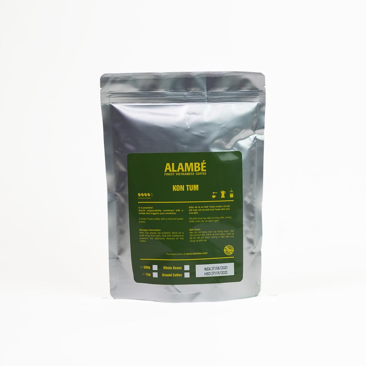 Cà phê nguyên hạt Kon Tum ALAMBÉ 500g