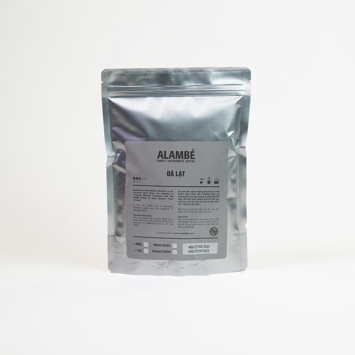 Cà phê rang xay đặc biệt Đà Lạt ALAMBÉ 500g