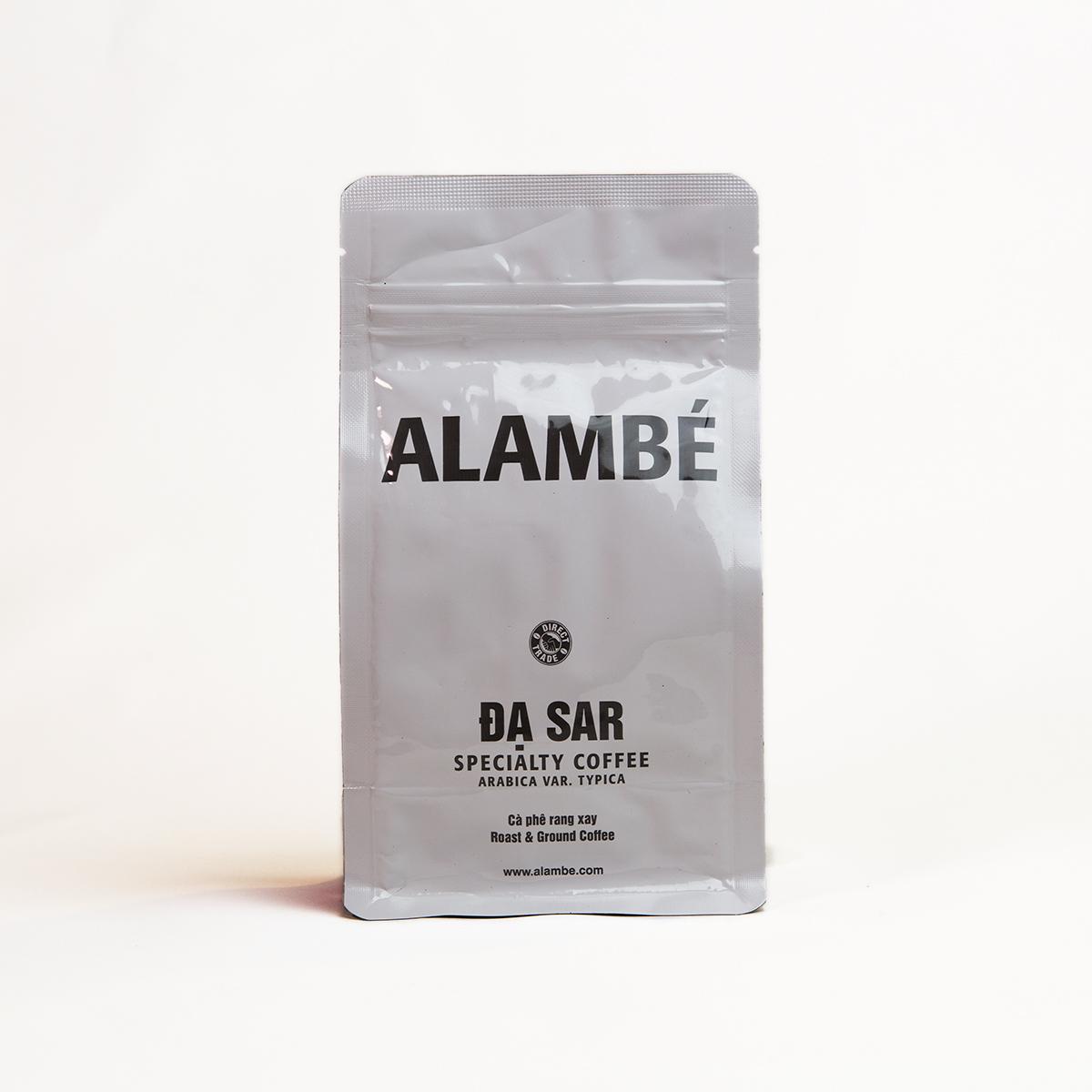 Cà phê rang xay đặc biệt Đạ Sar ALAMBÉ 230g