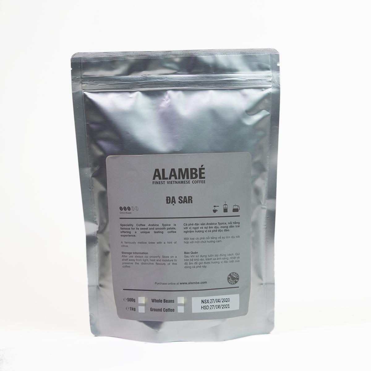 Cà phê rang xay đặc biệt Đạ Sar ALAMBÉ 500g