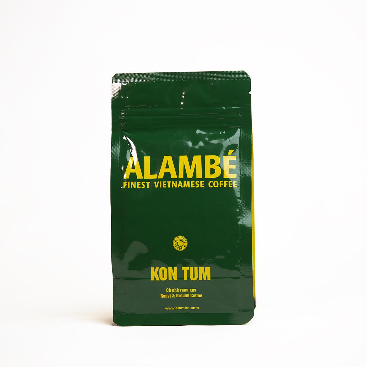 Cà phê rang xay Kon Tum ALAMBÉ 230g