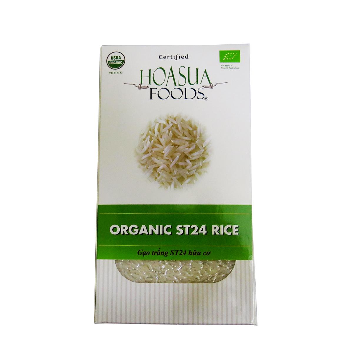 Gạo trắng ST24 hữu cơ Viễn Phú 1kg