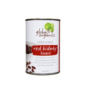 Global Organic - Đậu hầm hữu cơ - Đậu Kidney đỏ 400g