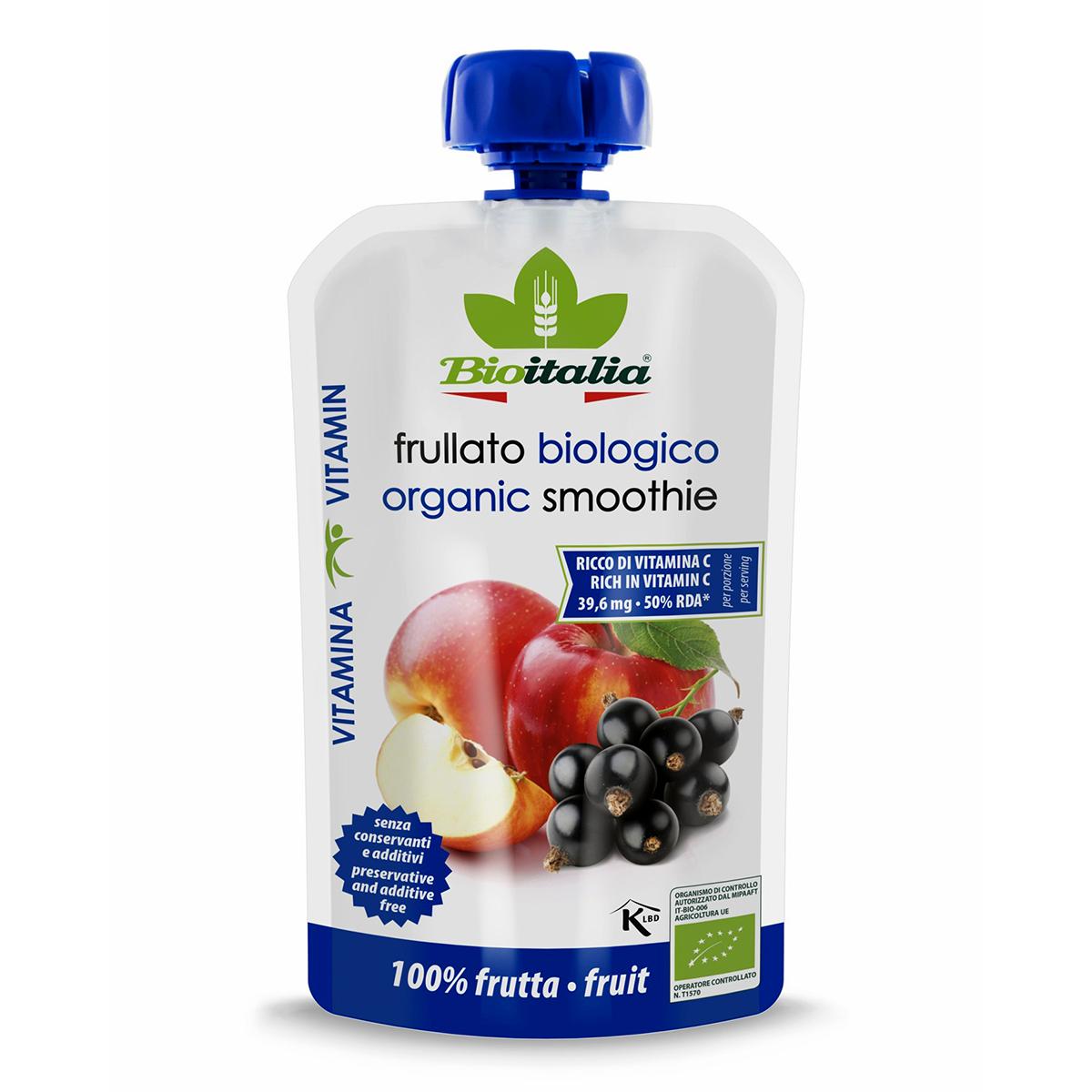 Hỗn hợp táo và quả lý chua đen hữu cơ 120g