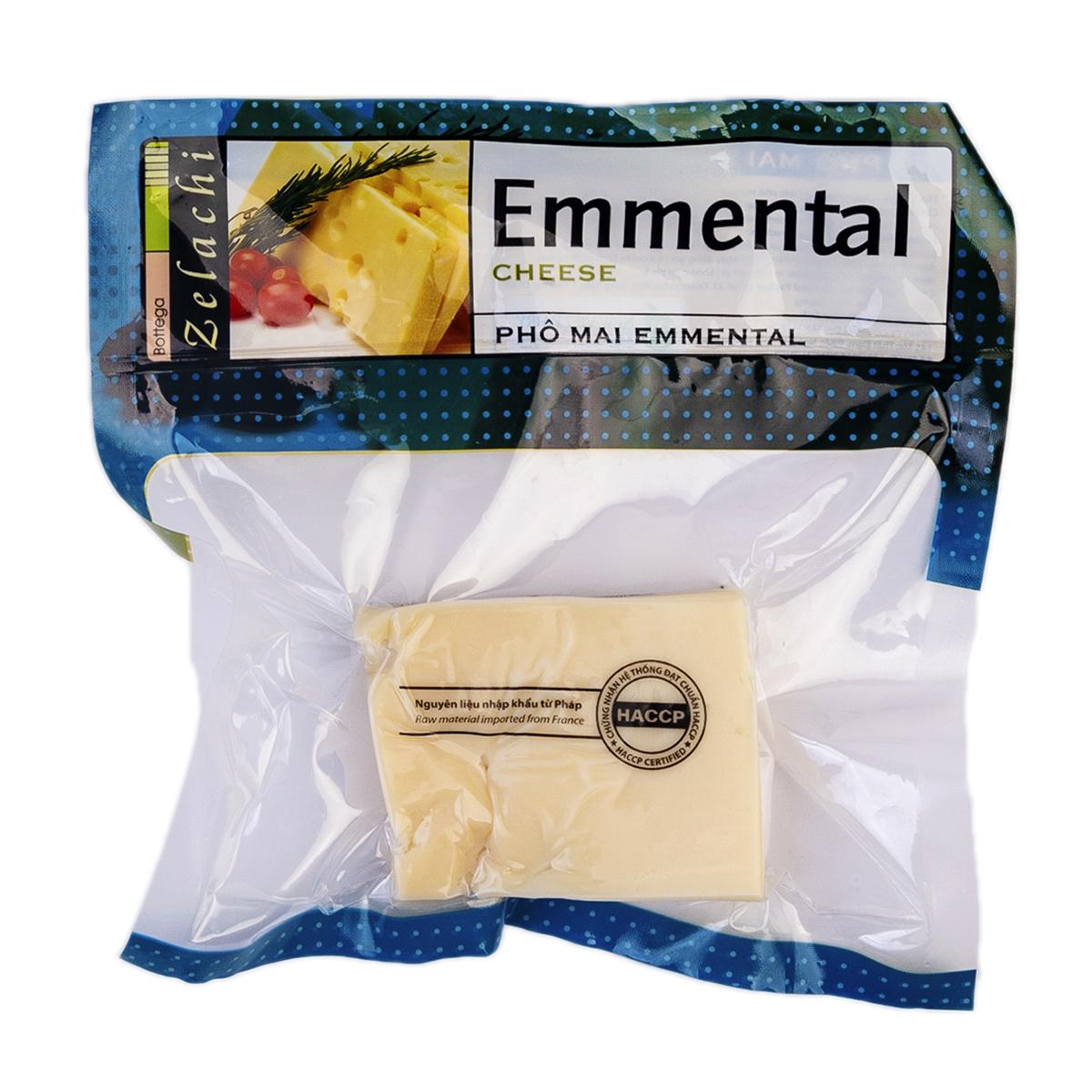 Cheese Emmental Bottega Zelachi 100g - Phô mai Emmental Bottega Zelachi 100g - Sản phẩm hữu cơ, nhập khẩu
