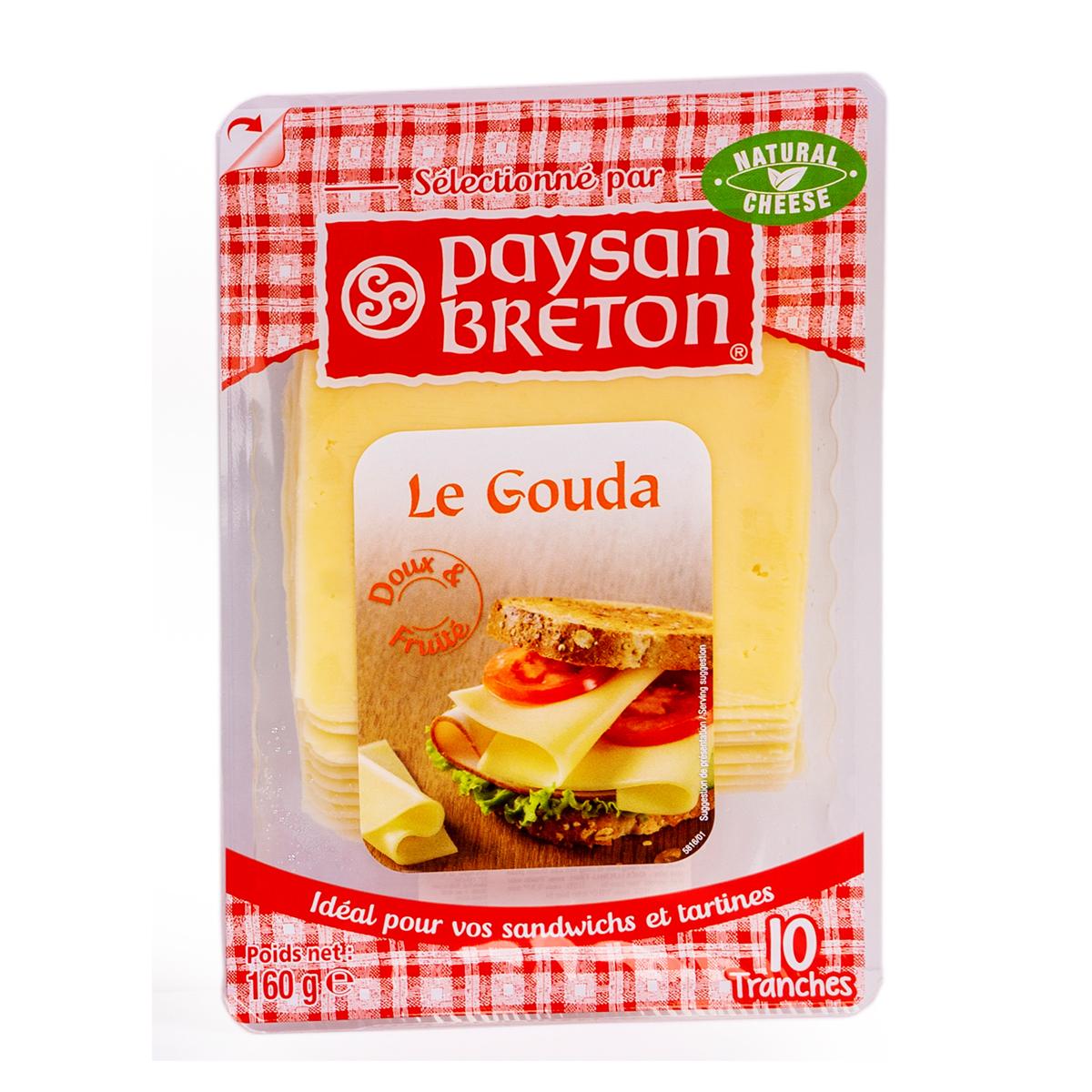Cheese Gouda PB lát 160g - Phô mai Gouda PB lát 160g - Sản phẩm hữu cơ, nhập khẩu