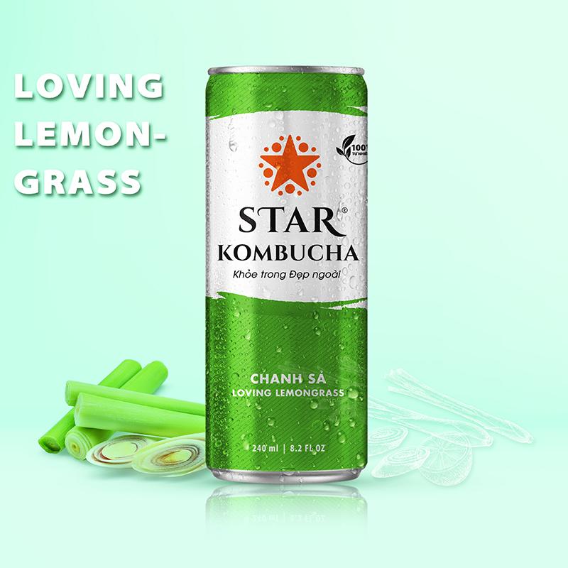 Star Kombucha Chanh Sả 240ml