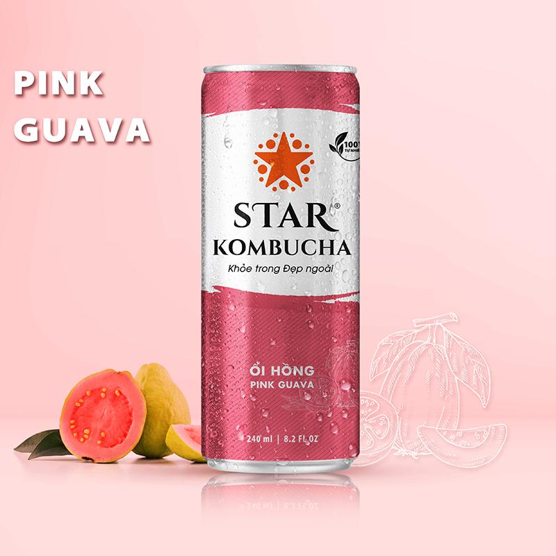 Star Kombucha Ổi Hồng 240ml
