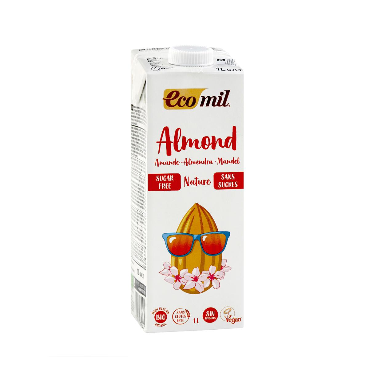Sữa dừa hạnh nhân không đường hữu cơ
