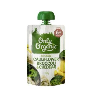 Thức ăn trẻ em Hữu Cơ Bông cải xanh, Súp lơ & Phô mai Cheddar 120g
