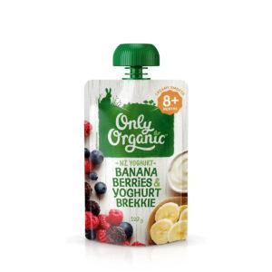 Organic Banana, Berries & Yoghurt Brekkie 120g - Thức ăn trẻ em Hữu Cơ Chuối, Quả mộng & Yoghurt brekkie 120g - Sản phẩm hữu cơ, nhập khẩu